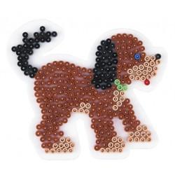 Stiftplade, hund, hvalp, 11,5x13 cm, HAMA Midi perler, eksempel