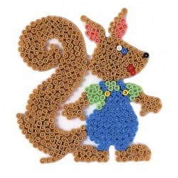 Stiftplade, egern, 11,5x13 cm, HAMA Midi perler