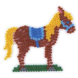 Stiftplade, hest, føl, 13,5x15 cm, HAMA Midi perler