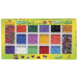 Gaveæske med sorteringsbakke, 7200 HAMA midi perler