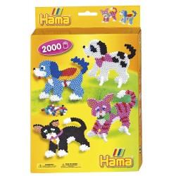 Hunde og katte, fire bedårende kæledyr, 2000 HAMA midi perler