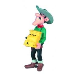 Jack Dalton med kasseapparat, flot, detaljeret figur fra Luck Luke, samlerobjekt