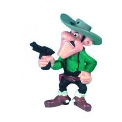 Joe Dalton med revolver, flot, detaljeret figur fra Luck Luke, samlerobjekt