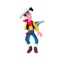 Lucky Luke skyder bag om ryggen, flot, detaljeret figur fra Luck Luke, samlerobjekt