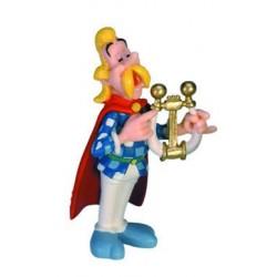 Trubadourix med lyre, flot, dekorereret figur fra Asterix, samlerobjekt
