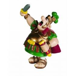 Centurion med løftet sværd, flot, dekorereret figur fra Asterix, samlerobjekt