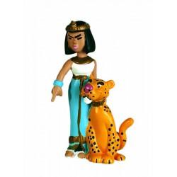 Cleopatra med leopard, flot, dekorereret figur fra Asterix, samlerobjekt