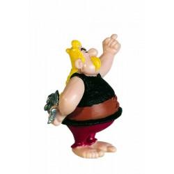 Hørmetix med fisk, flot, dekorereret figur fra Asterix, samlerobjekt