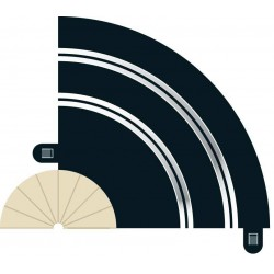 Kurvede banestykker, radius 1, 90°, hårnålesving, 2 stk, Scalextric