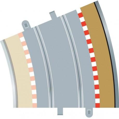 Afgrænsning og barriere, udvendig, radius 4, 4 stk, Scalextric