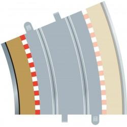 Afgrænsning og barriere, indvendig, radius 4, 4 stk, Scalextric