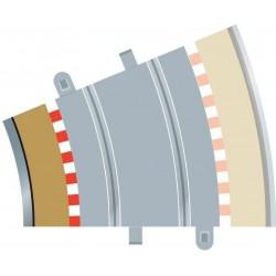 Afgrænsning og barriere, indvendig, radius 3, 4 stk, Scalextric
