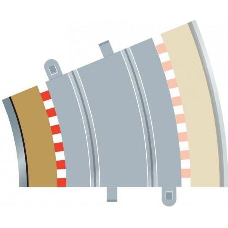 Afgrænsning og barriere, udvendig, radius 3, 4 stk, Scalextric