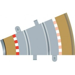 Afgrænsning og barriere, indvendig, radius 2, 4 stk, Scalextric