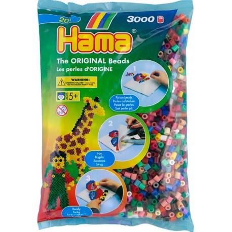 3000 perler, 22farver mix (67), HAMA Midi perler
