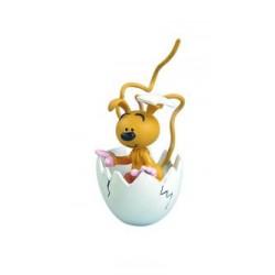 Babyspiril i æggeskal, flot, dekoreret samlerfigur til fans af Spirillen