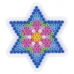Stiftplade, stjerne, 6spidser, 10 cm, HAMA Midi perler