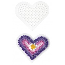 Stiftplade, hjerte, 8,5 cm, HAMA Midi perler