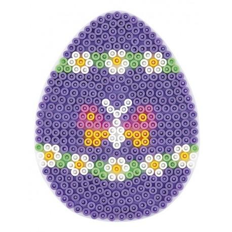 Stiftplade, æg, 9,6 x 12,5 cm, HAMA Midi perler