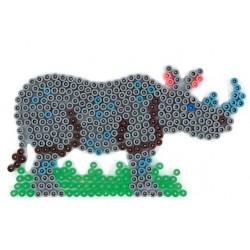 Stiftplade, næsehorn, 16x8,8 cm, HAMA Midi perler