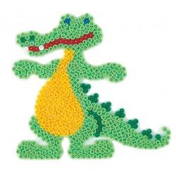 Stiftplade, krokodille, 14x15 cm, HAMA Midi perler