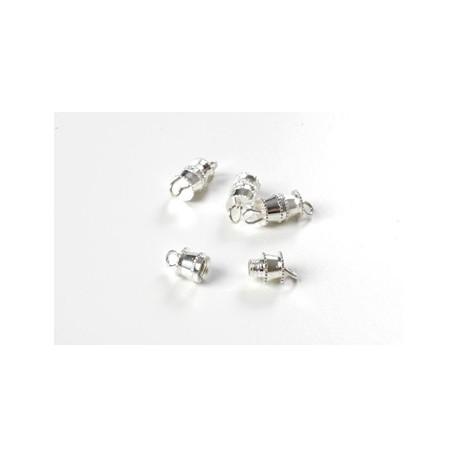 Skruelås til smykker, sølv, 4 stk