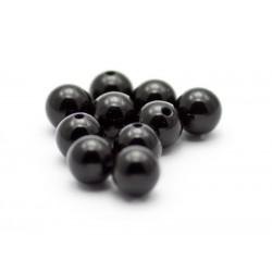 6 mm onyx, stenperler, 10 stk
