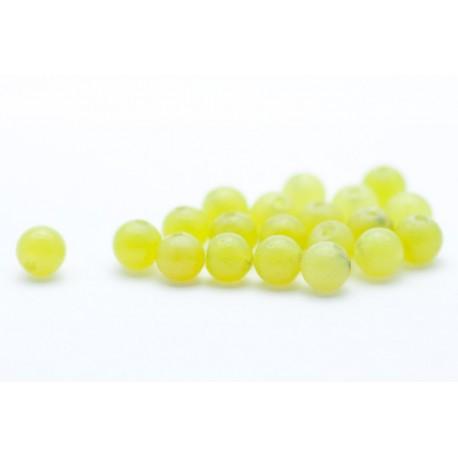 4 mm lime jade, rund, stenperler, 20 stk