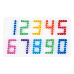 Stiftplade, tal fra 0 til 9, 9,4 x 16 cm, HAMA Midi perler