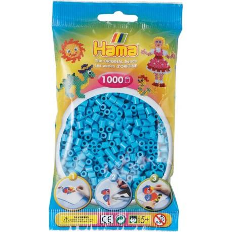 1000 perler, HAMA Midi perler, 49 azurblå