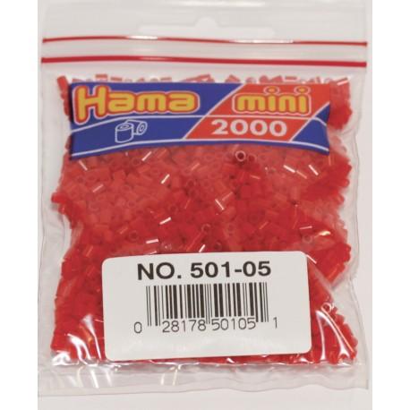 2000 perler, HAMA Mini perler, 05 rød