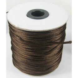 Knyttegarn, brun silkesatin, 2 mm, 93 m på spole