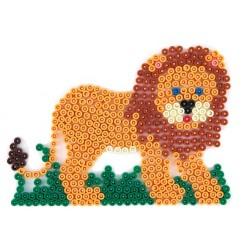 Stiftplade, løve, 11 x 15 cm, HAMA Midi perler