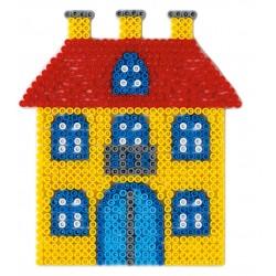 Stiftplade, hus, 17 x 15 cm, HAMA Midi perler