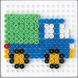 Stiftplade, firkantet, 7,5 cm, HAMA Midi perler
